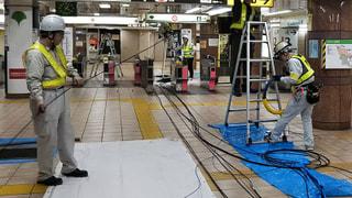 駅構内監視カメラ増設工事 進捗状況